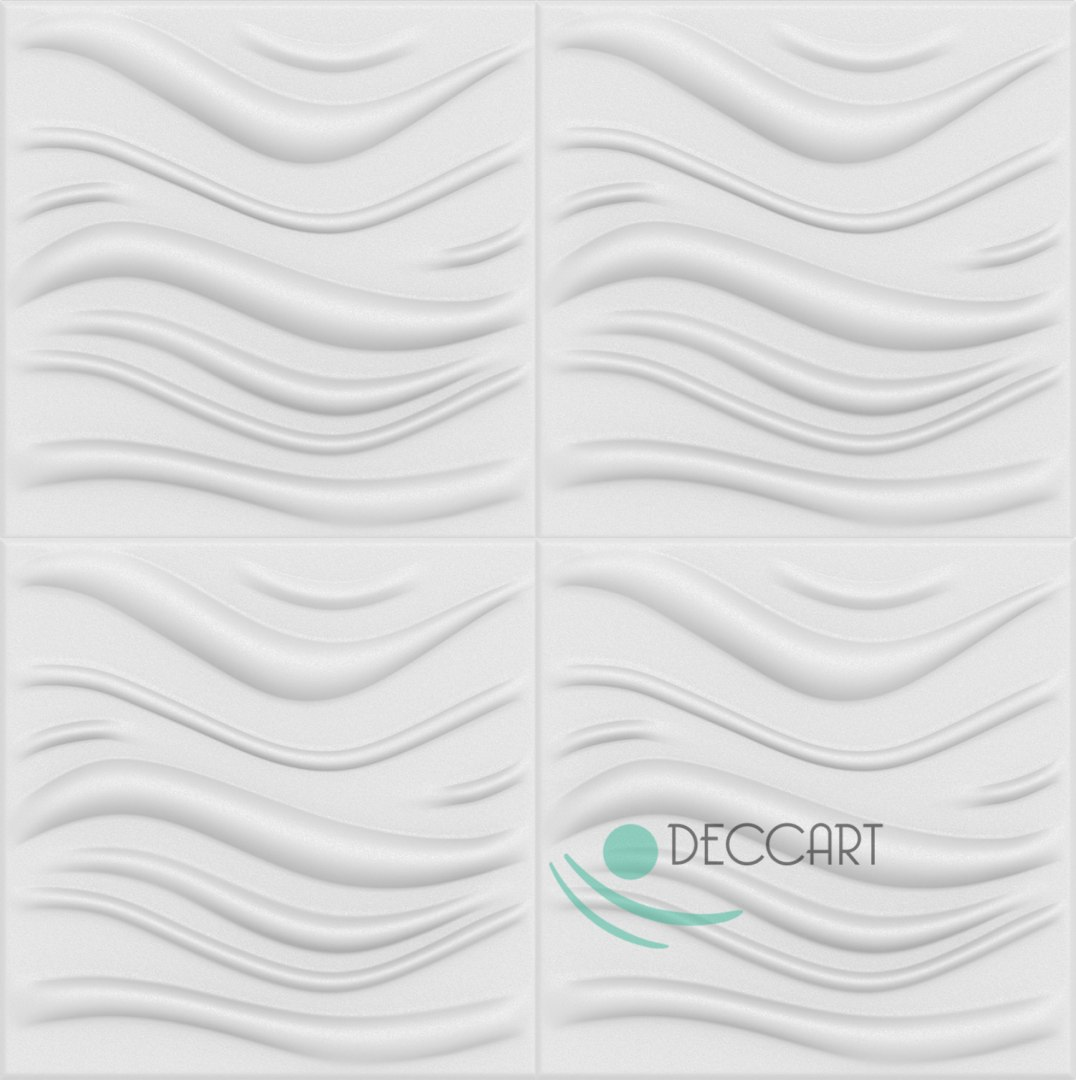 WAVE - Styrofoam Ceiling Tiles 3D