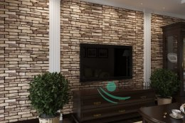 3D PCV Natural Stone Slate Wall Panels