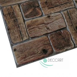 3D PCV Old Wood Wall Panels
