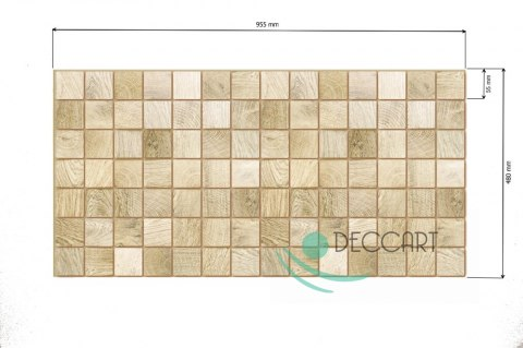 3D PCV Bleached Bar Wall Panels