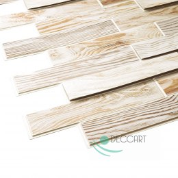 3D PCV Bleached Oak Wall Panels
