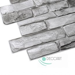 3D PCV Grey Stone Wall Panels