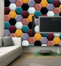 Upholstered Satin Panels Hexagon 2212