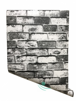 Grey wallpaper self-adhesive concrete imitation T1001