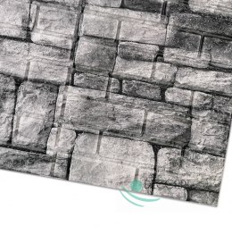 Brick Stone Grey 3D Wallpaper S03 70x70