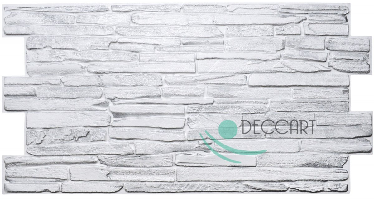 3D PCV White Rock Wall Panels