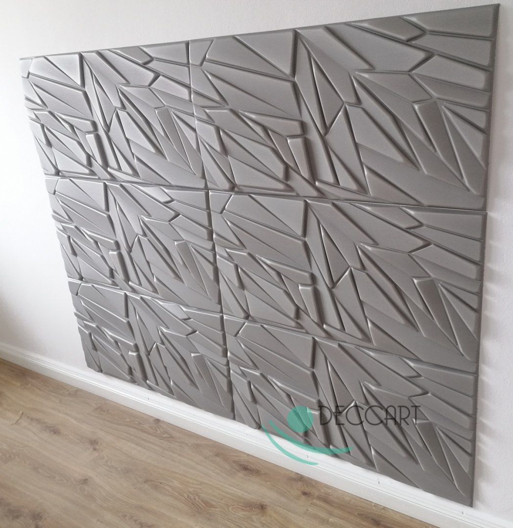 Rock GREY - Styrofoam Ceiling Tiles 3D