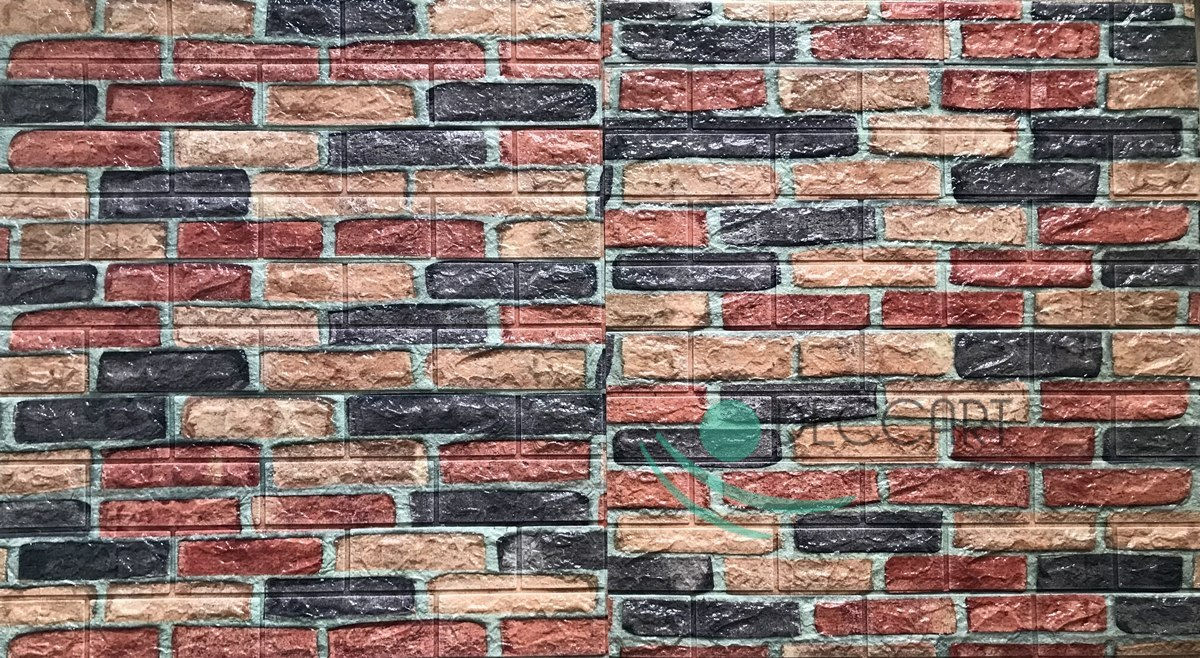 Wallpaper Brick Self-Adhesive C14 Multicolor 70x70