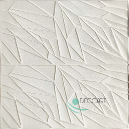 3D Wallpaper White Self-Adhesive S06