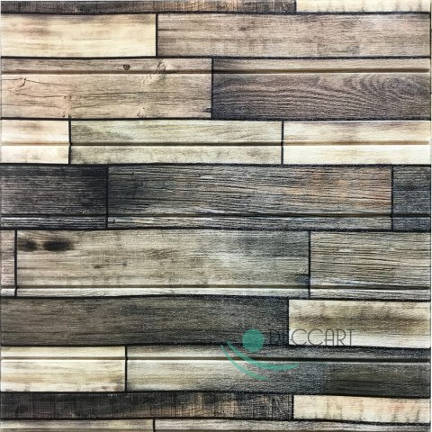 Wallpaper 3D Self-Adhesive Board D09 Dark Wood