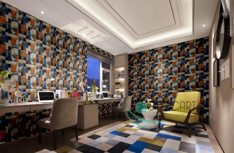 Multicolor Brick 3D Wall Wallpaper S02 70x70